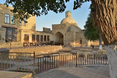 The old buildings on the majestic streets of Bukhara in Uzbekistan. The architecture of the ancient city. The old buildings on the majestic streets of Bukhara Royalty Free Stock Photos