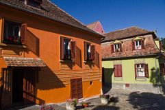 Old buildings in medieval city of Sighisoara (Tran Stock Images