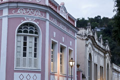 Old buildings in Minas Gerais. Brazil. Old houses in Sao Joao del Rei Stock Photography