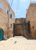 Old Buildings and Modern Structure in Acre Royalty Free Stock Photo