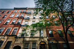 Old buildings on Myrtle Street in Beacon Hill, Boston, Massachus Stock Images