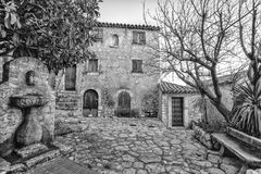 Old buildings and narrow streets in Eze. Eze is a small village near Monaco and Nice in Provence, France. royalty free stock photo