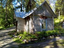 Old buildings near the temple on Solovki. Solovetsky Islands, Arkhangelsk region, White sea royalty free stock photography