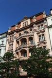 Old buildings near Vinohrady Theatre (Czech: Divadlo na Vinohradech) is a theatre in Vinohrady, Prague Stock Photography