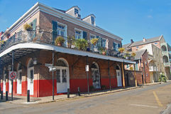 Old buildings in New Orleans historic French Quarter Stock Images