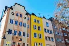 Old buildings on the Old Market Square in Cologne. Germany Royalty Free Stock Images