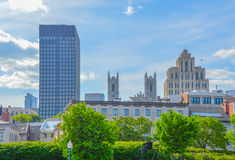 Old buildings in old port of Montreal, Quebec. royalty free stock image