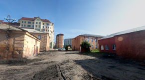 Old buildings of Omsk fortress Royalty Free Stock Photography