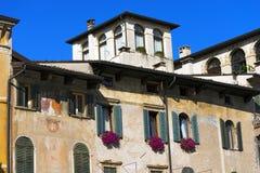 Old Buildings - Piazza delle Erbe - Verona Royalty Free Stock Photo