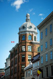 Old buildings in Quebec city Stock Images