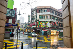 Old buildings at rainy day in Kuala Lumpur, Malaysia.  Stock Photos