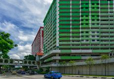 Old buildings at Rochor stock image