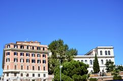 Old buildings in Rome stock photography