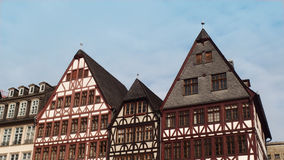 Old Buildings Roofs Europe Germany. Central Square in Frankfurt Germany Stock Images