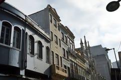 Old buildings in Rua da carioca in Rio de Janeiro. Old preserved buildings in the center of Rio de Janeiro, at Passos Street brazil downtown carioca city da royalty free stock images