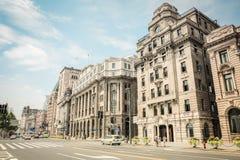 Old buildings in shanghai bund Royalty Free Stock Photo