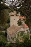 Old buildings on Sipan island, Croatia Stock Photography