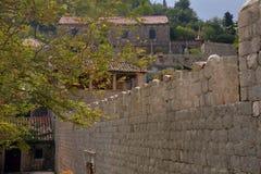 Old buildings on Sipan island, Croatia Royalty Free Stock Photography