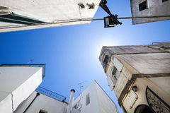 Old buildings and sky. Historic center of Otranto, Italy  Royalty Free Stock Images