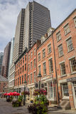 Old buildings in South Street Seaport, New York Stock Images