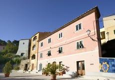 Old buildings on square, Poggio Stock Photos