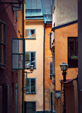 Old buildings in Stockholm Stock Images