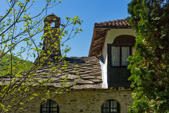 Old Buildings with stone roofs in Temski monastery St. George, Pirot, Republic of Serbia Stock Images