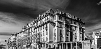 Old buildings in Strasbourg, infrared street view Stock Photo