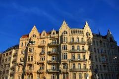 Old Buildings, Street: Smetanovo nábřeží, New Town, Prague, Czech Republic Stock Photo