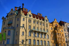 Old Buildings, Street: Smetanovo nábřeží, New Town, Prague, Czech Republic Stock Images