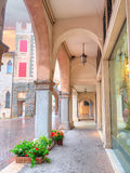 Old buildings and streets architecture in village of Serravalle in Vittorio Veneto Royalty Free Stock Photography