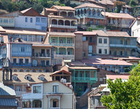 Old buildings in Tbilisi Old town Sololaki Stock Image