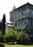 Old buildings in Tbilisi Stock Photo