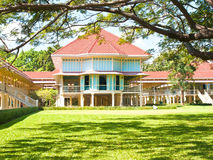 Old buildings on thai style Stock Photos