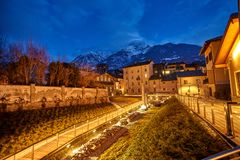 Old buildings in the Old town of Aosta Italy Royalty Free Stock Photos