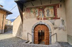 Old buildings in the Old town of Aosta Italy Royalty Free Stock Photography