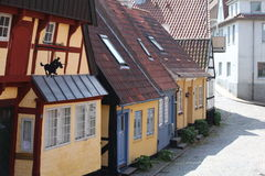 Old buildings. Old town in southern town in Denmark Stock Image