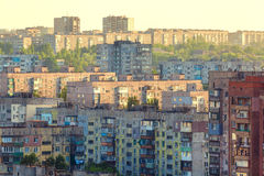 Old buildings in Ukraine. Crowded old housing. Royalty Free Stock Image