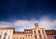 Old buildings under the sky Royalty Free Stock Photos