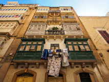 Old buildings in Valletta with sky Stock Photo