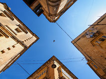 Old buildings in Valletta with sky Royalty Free Stock Images