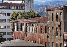 Old buildings in Valparaiso. Stock Photos