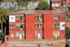 Old buildings in Valparaiso. Royalty Free Stock Photography