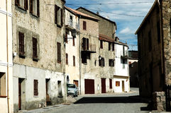 Old buildings in Venaco, Corsica Stock Image