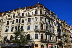 Old Buildings, (Vinohrady), Prague, Czech Republic Stock Photo