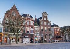 Old buildings at the Vismarkt in Groningen. Netherlands Stock Image