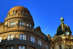 Old Buildings, Wenceslav Square, New Town, Prague, Czech Republic Stock Photo