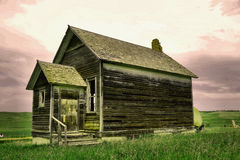Old buildings in Western North Dakota. Old buildings left in western North Dakota Royalty Free Stock Photography