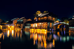 Old Buildings in Wuzhen, China. This the most famous symbol in Wuzhen. Wuzhen is located in Zhejiang Province, China. Its a famous small town for travel in east Stock Photo