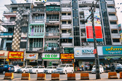 Old buildings in Yangon. Stock Photography